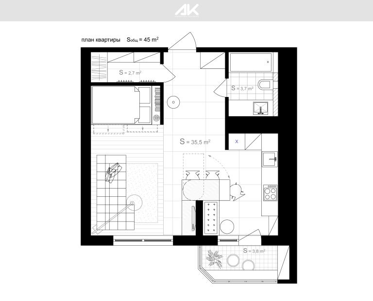kv plan _ 1. Первый этаж